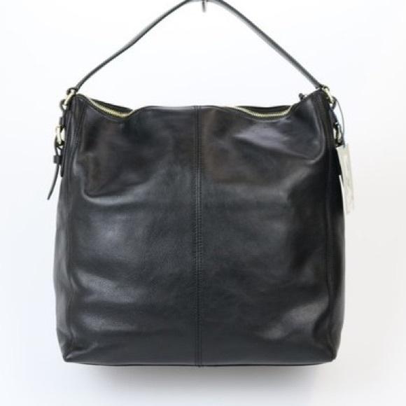 de712d228d Cole Haan Handbags - Cole Haan Rockland Black Leather Hobo Shoulder Bag